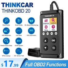 THINKCAR herramienta de diagnóstico de coche THINKOBD 20 OBD2, escáner profesional OBD 2, lector de código automotriz para comprobar la luz del motor
