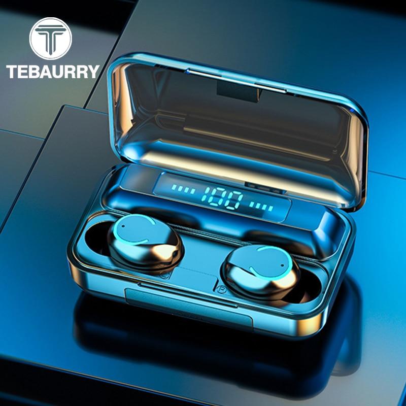New F9 TWS True Wireless Earphones Bluetooth 5.0 9D HiFi Stereo Wireless Headphones Touch Sport Mini Earbuds With 1500mAh Case