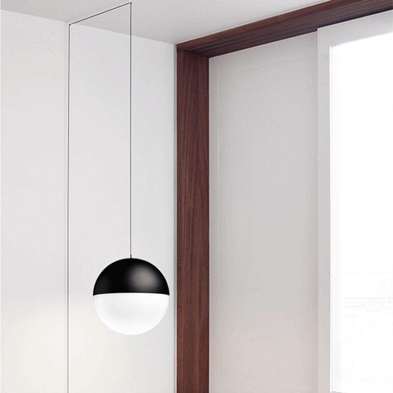 Modern Simple Line Hanging Pendant Lights DIY Geometric Lines Globe String Pendant Lamps LED Living Room Kitchen Fixtures