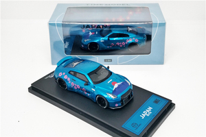 Image 3 - 1: 64 Modello di tempo Nissan GTR R35 Giappone Monte Fuji Sakula Diecast Modello di Auto