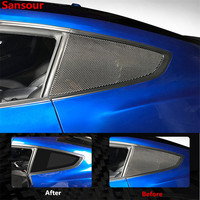 Sansour Carbon Fiber Rear Side Window Louver Side Vent Cover Replacement for Ford Mustang 2015+ Car Styling Accessories