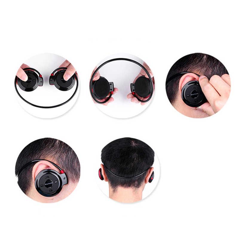 Reproductor de MP3 portátil sin pérdidas inalámbrico Bluetooth auriculares deportivos banda para el cuello auriculares de Audio estéreo con Radio FM para teléfono C