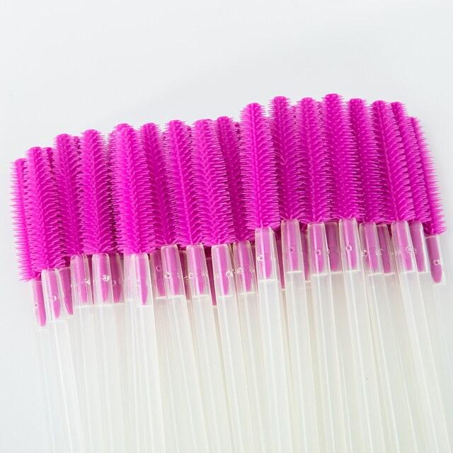 100Pcs Transparent Silicone Makeup Eyelash Brush Comb Mascara Wands Eye Lashes Extension Tool Eyebrow Brush Lashes Make Up Tools 4