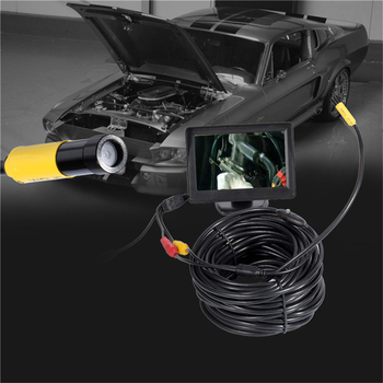 5 V/12 V 10mm לן AV עמיד למים אנדוסקופ מיני מצלמה 1 M/5 M/10 M/15 M/20 M גמיש נחש צינור פיקוח פיקוח אנדוסקופ מצלמה