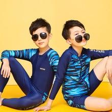 Bikini Kids Swimwear Clothing Long-Sleeve Zippers Baby-Boy Children Plus-Size for Drying