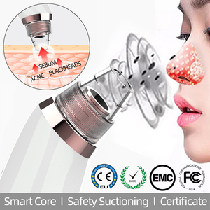 Blackhead remover vacuum hot compresses pore cleaner suctioning nose T Zone Acne sebum firming skin sentive care USB charge