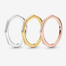 2019 осенние серебряные кольца из натуральной 925 пробы многогранное
