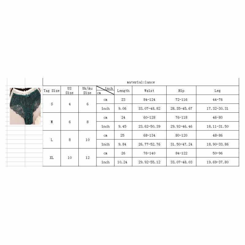 セクシーなパンティー女性のための固体フルレース 5 色高股透明花弓ソフトブリーフキュロットファムプラスサイズサイズ S-XL