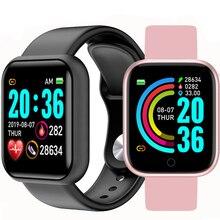 Reloj inteligente con Bluetooth D20 para hombre, pulsera inteligente con Monitor de ritmo cardíaco y presión arterial Y68