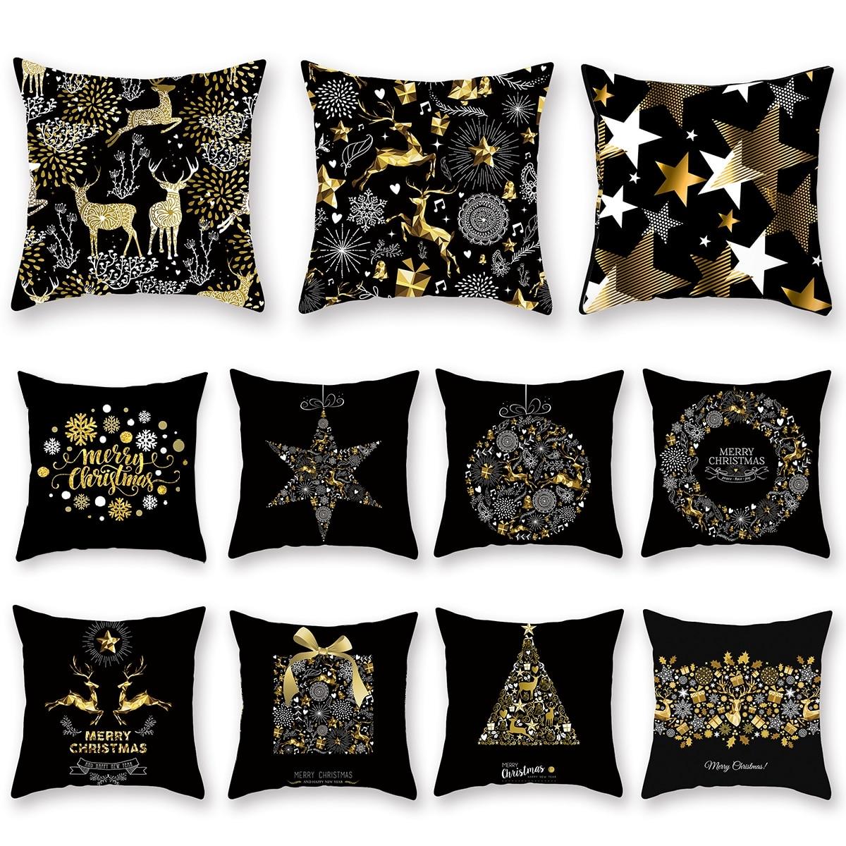 H435d7eb8be774c73b52e8b480ad6f50b5 Christmas Pillow Coussin Cartoon Geometric Cushions Case Christmas Home Decorative Cushion For Sofa Xmas DIY Soft hug Pillowcase