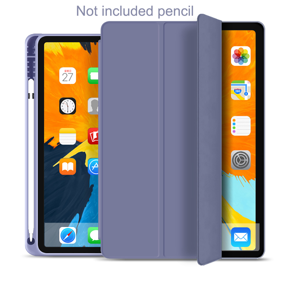 Lavender Other Protective Tablet Case For iPad Pro 11 Case 2020 with Pencil Holder Shockproof Stand Back Shell