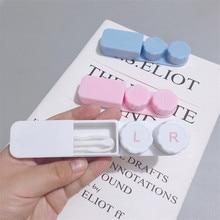 Couples Simple Strip contact lens case storage box Lens cont