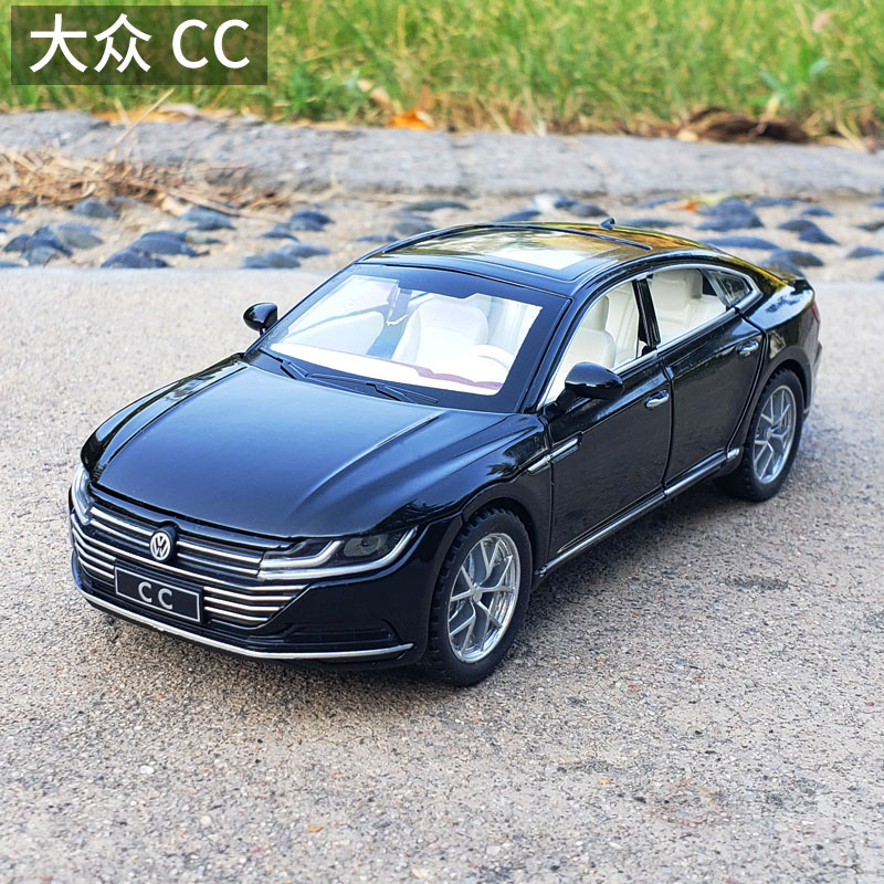 1:32 Volkswagen CC Sports Car Diecast Toy  Pull Back Simulation Sound Musical Lighting Vehicles Model Metal Toy Free Shipping