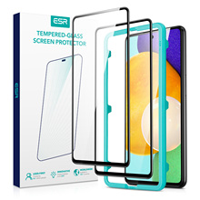 ESR 2PCS Tempered Glass for Samsung Galaxy A52 2021 Full Cover HD Front Film Installation Tool Screen Protector for Galaxy A52