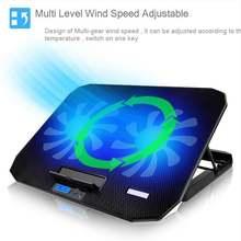 Кулер для ноутбука с кнопками 6 скоростная регулируемая скорость