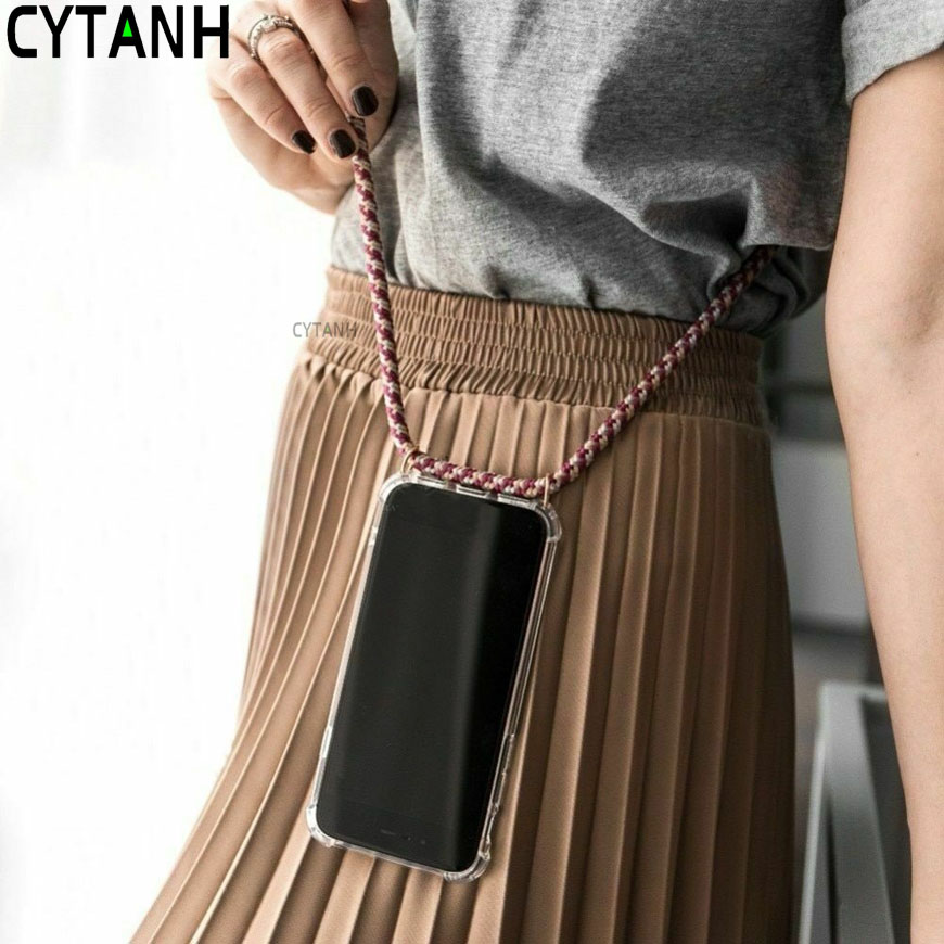Strap Cord Chain Phone Case for Samsung Galaxy A5 A6 A7 A8 A9 <font><b>2018</b></font> Necklace Lanyard Coque for A51 A71 10 20 30 40 50 <font><b>70</b></font> Funda image