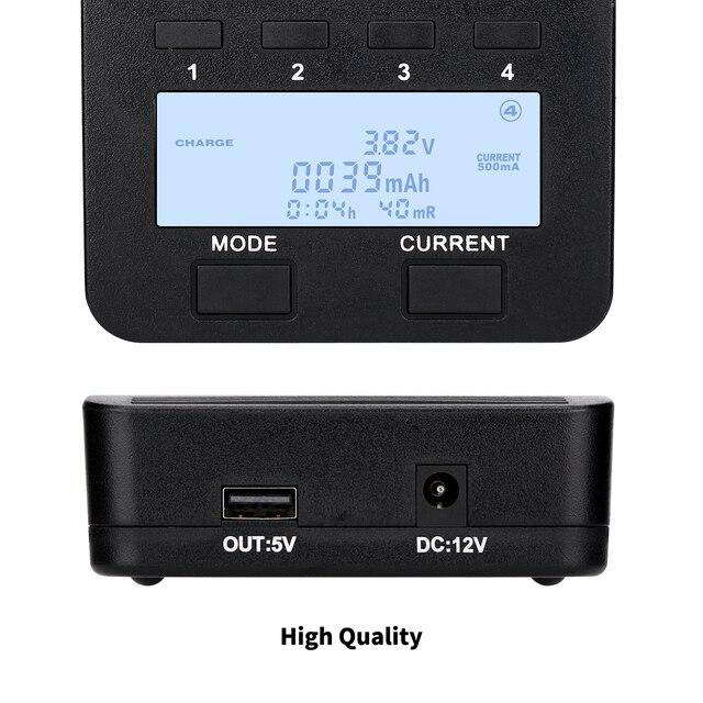 LiitoKala lii-500 LCD 3.7V/1.2V AA/AAA 18650/26650/16340/14500/10440/18500 ładowarka z ekranem + adapter 12V2A lii500 5V1A