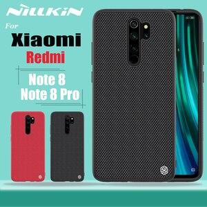 Image 1 - Pour Xiaomi Redmi Note 9 8 Pro Ma Note 9s boîtier Nillkin texturé Nylon fibre couverture antidérapant étui pour Xiaomi Mi Note 10 Lite