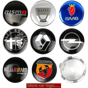 4pcs 60mm Wheel Center Hub Caps Car Emblem Badge Logo Wheel Center Cap For BMW Audi KIA Ford Toyota Honda Hyundai Nissan Subaru(China)