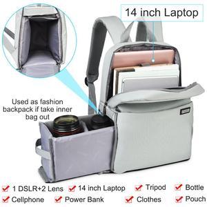 Image 2 - CADeN Dslr מצלמה תיק עמיד למים תרמיל כתף מחשב נייד מצלמה דיגיטלית עדשת צילום מזוודות שקיות מקרה עבור Canon Nikon Sony