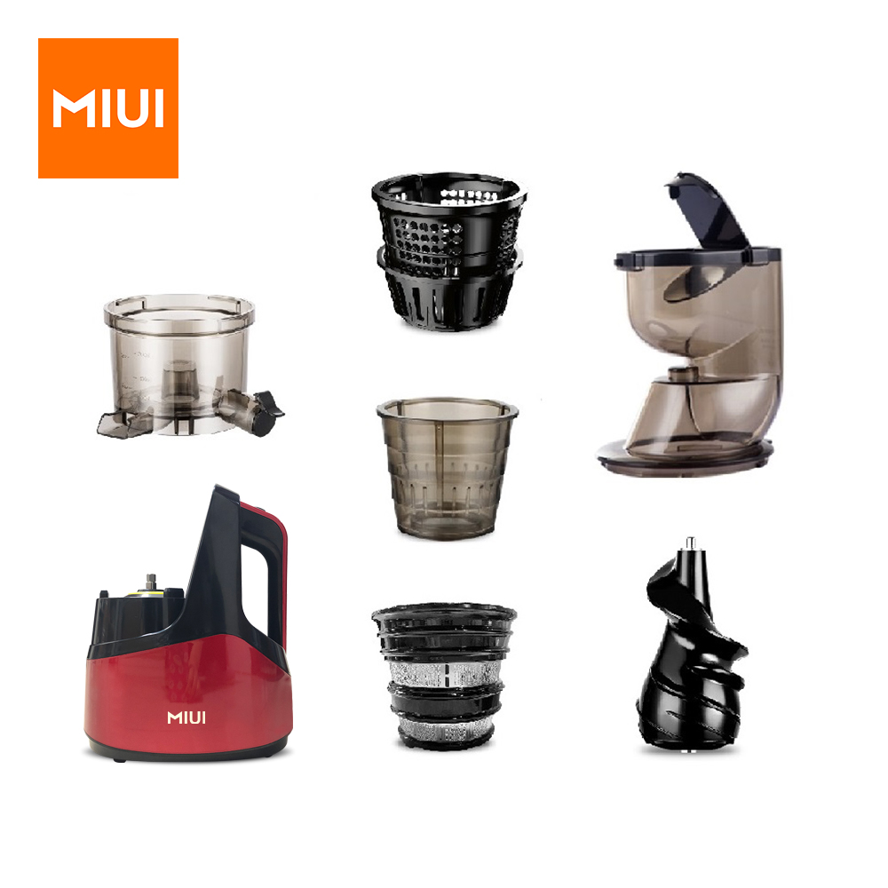 MIUI Slow Juicer Accessories (main unit / strainer / ice cream strainer / auger / feeder cup / rubber stopper) Home Electric