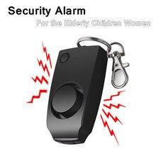 Chaveiro de segurança para mulheres, alarme de 130db para proteção de emergência, anti-rapo, alarme de emergência