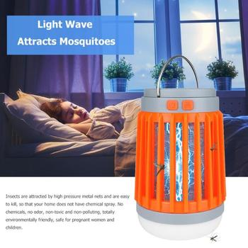 Solar Mosquito Killer Lamp Waterproof Insect Fly Bug Trap Light Flashlight Mosquito Zapper Light For Bedroom, Garden,Camping 5