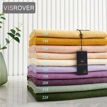Женский зимний шарф visrover 32 цвета модный кашемировый на