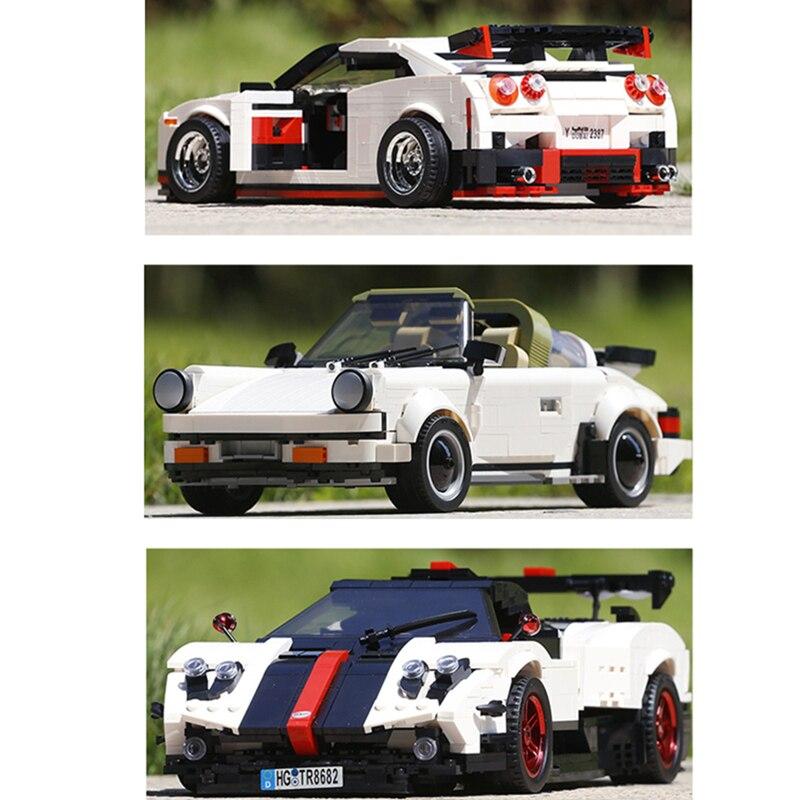 En STOCK 13103 13014 13105 Moc technique Sport vitesse voitures jouets blocs de construction briques Kits modèle jouets enfants cadeau de noël