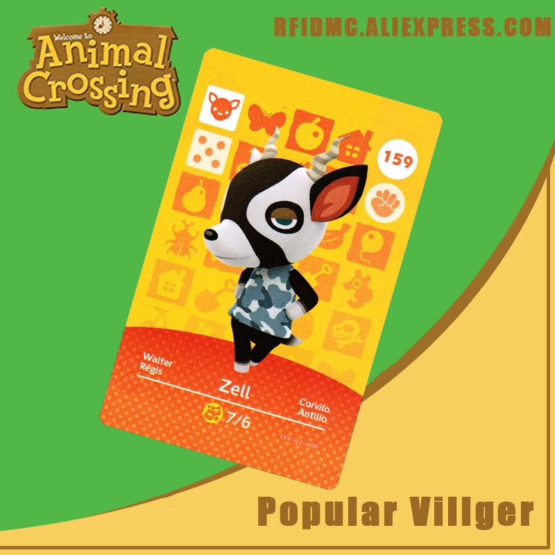 159 Zell Animal Crossing Card Amiibo For New Horizons