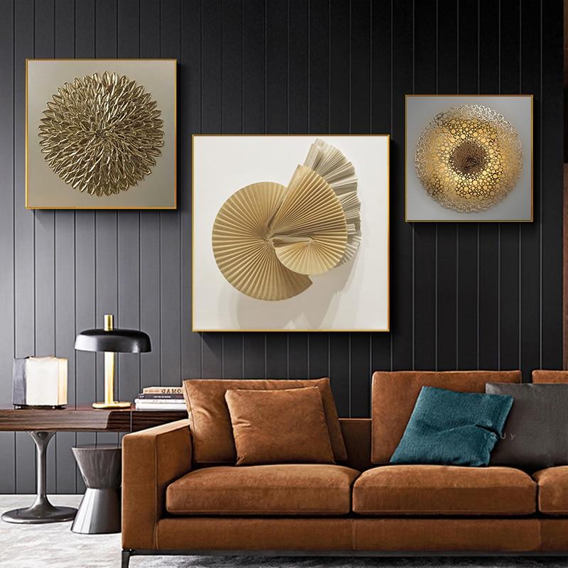 Современный черный золотой роскошный постер геометрический абстрактный холст картина скандинавские настенные художественные принты Картина гостиная украшение для дома
