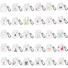 Clear Silicone Earphone Case for AirPods 2 1 Bluetooth Earpods Case Soft Cases for Apple Airpods Airpod Air Pods 2 Cover Fundas