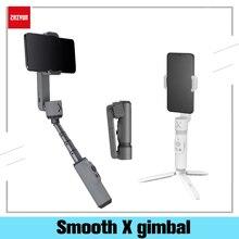 ZHIYUN GLATTE X Telefon Gimbals Selfie Stick Handheld Stabilisator Palo Smartphones Für iPhone Huawei Xiaomi Redmi Samsung