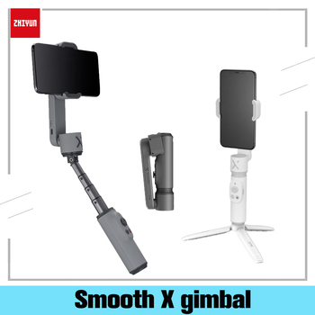 цена на Zhiyun Smooth X Gimbal Smartphone Cell Phone Stabilizer Adjustable Selfie Stick With Light Mobile Tripod For iPhone Android
