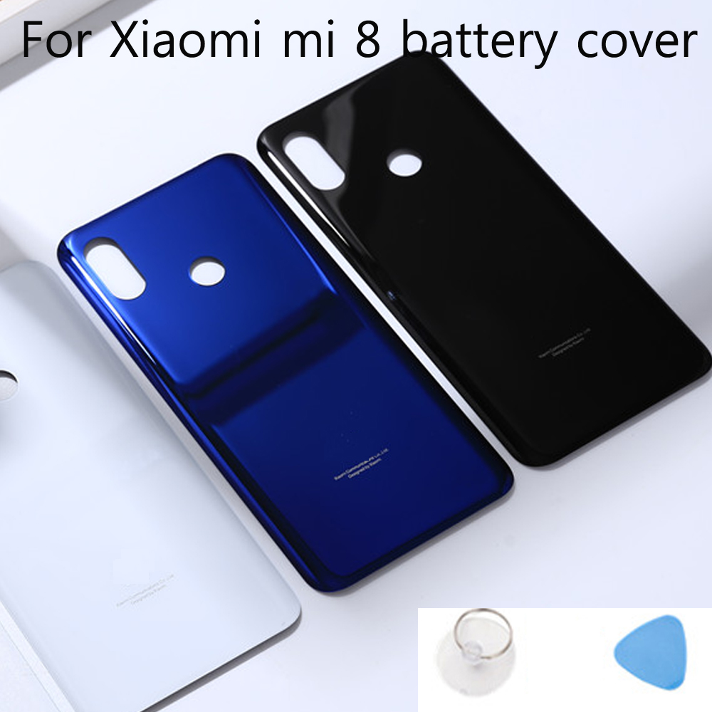 MI8 Glass Rear Housing <font><b>Cover</b></font> For <font><b>Xiaomi</b></font> <font><b>MI</b></font> <font><b>8</b></font> mi8 <font><b>Battery</b></font> <font><b>cover</b></font> Back Door Replacement 4 Colors Stock for Xiaom <font><b>8</b></font> image