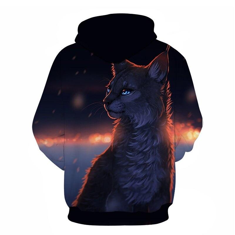 Women's Two Cat Sweatshirts Long Sleeve 3D Hoodies Sweatshirt Pullover Tops Blouse Pullover Hoodie Poleron mujer Confidante Tops 82