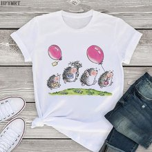 Женские топы одежда новинка Милая женская футболка с принтом