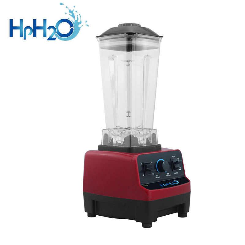 Batidora mezcladora de grado pesado comercial 2L exprimidor procesador de alimentos de alta potencia Barra de batidos de hielo trituradora de hielo licuadora de frutas