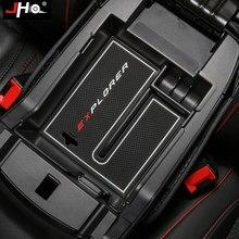 JHO передний центральный подлокотник ящик для хранения лоток для Ford Explorer 2011-2019 2018 2017 2015 2013 автомобильный Органайзер контейнер аксессуары