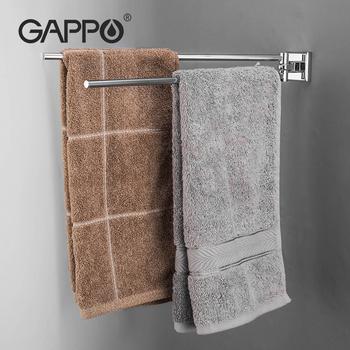GAPPO ze stali nierdzewnej stalowy wieszak na ręczniki półka po prysznic do montażu na ścianie uchwyt na ręczniki półka łazienkowa wisiorek wieszak na ręczniki ręcznik Bar ręcznie uchwyt na ręczniki tanie i dobre opinie STAINLESS STEEL Krótkie DOUBLE 50-60 cm G3812