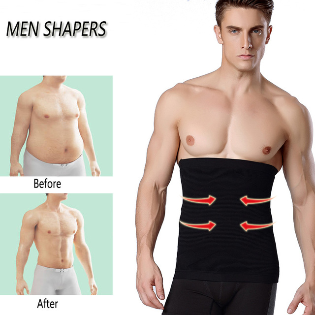 Men Waist Trimmer Belt Slimming Body Shaper Weight Loss Waist Trainer Shapewear Sweat Girdle Corset Men Fitness Belt