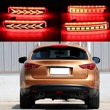 Автомобильная проблесковая 2 шт. светодиодный для Infiniti FX35 FX37 FX50 2009 2010 2011 2012 2013 отражатель задний противотуманный фонарь заднего бампера свет...