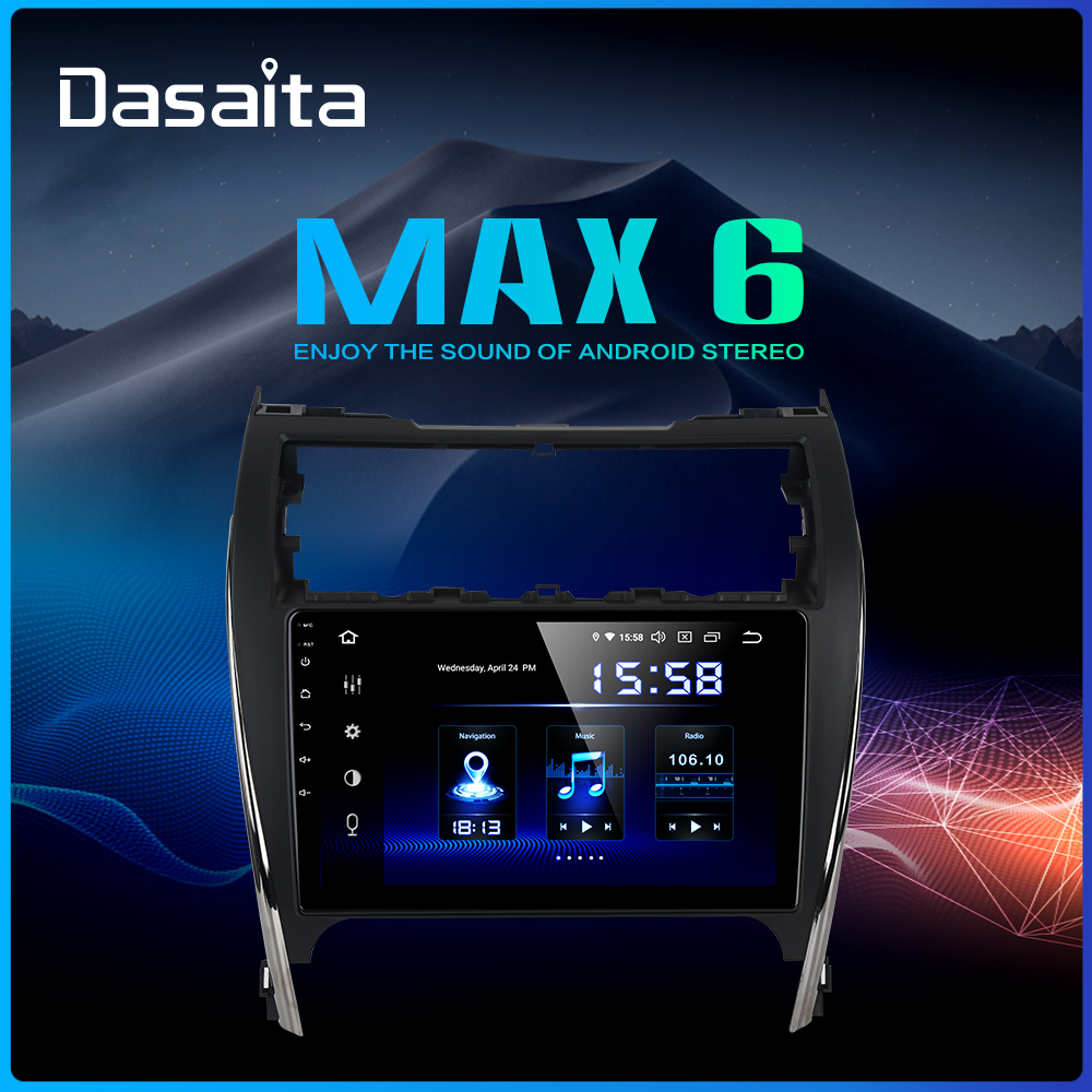 Dasaita 10.2 IPS Car Android 9.0 1 din Player for Toyota Camry 2012 2013 2014 USA & Mid-east version GPS 64GB ROM Car Audio image