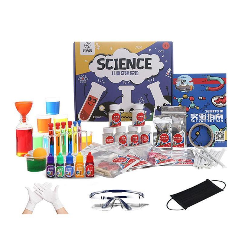 Set de experimentos de ciencia para niños, de 133 Uds., hecho a mano, para estudiantes de escuela primaria, ayuda en Enseñanza de Química Física - 6