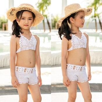 Crochet Baby Bikini Girl Swimsuit Girls Swimwear Bathing Suit Kids Swimming Set