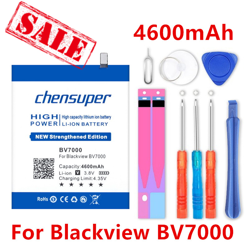 chensuper 4600mAh <font><b>BV7000</b></font> V575868P <font><b>Battery</b></font> For <font><b>Blackview</b></font> <font><b>BV7000</b></font>/<font><b>BV7000</b></font> <font><b>Pro</b></font> High Quality Mobile Phone <font><b>Batteries</b></font> +Gift tools image