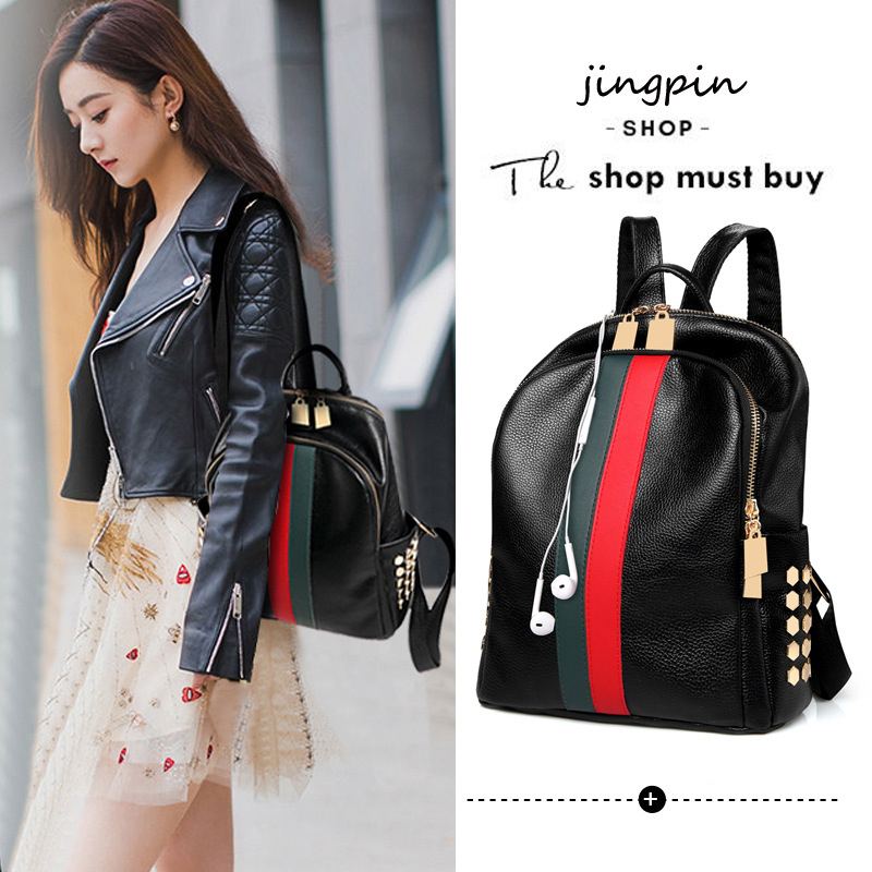H436033c412f64b06919c2defa7fc4976t Luxury Famous Brand Designer Women PU Leather Backpack Female Casual Shoulders Bag Teenager School Bag Fashion Women's Bags
