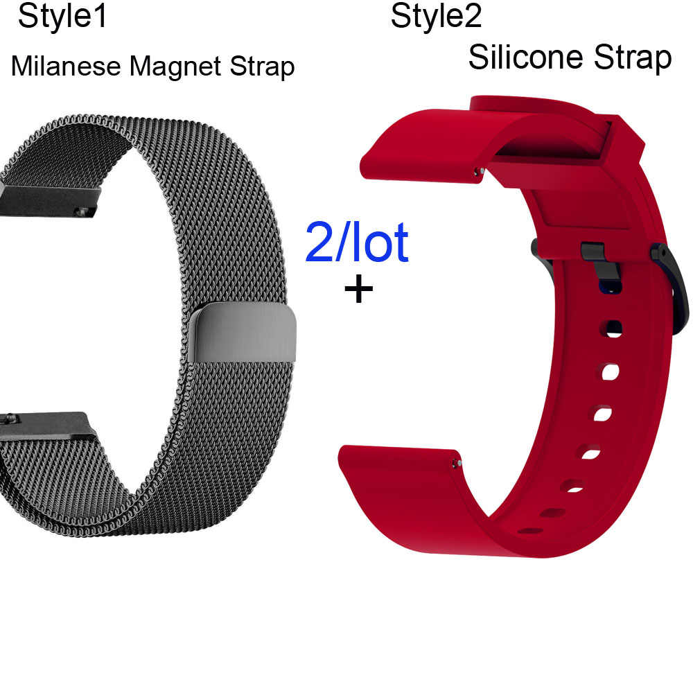 20mm Bracelet Band For Xiaomi Amazfit Bip Watchband Amazfit GTS Strap Amazfit GTR 42mm Milanese Stainless Steel Watchstrap