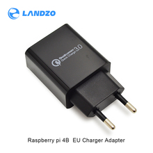 Новинка, зарядное устройство Raspberry pi 4B 5 в 3 А для ЕС, USB зарядное устройство, адаптер питания для дома и путешествий