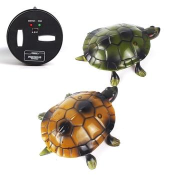 Tortuga eléctrica con Control remoto por infrarrojos, juguete para regalo para niños, Robot luminoso